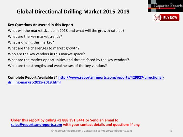 Global Directional Drilling Market 2015-2019