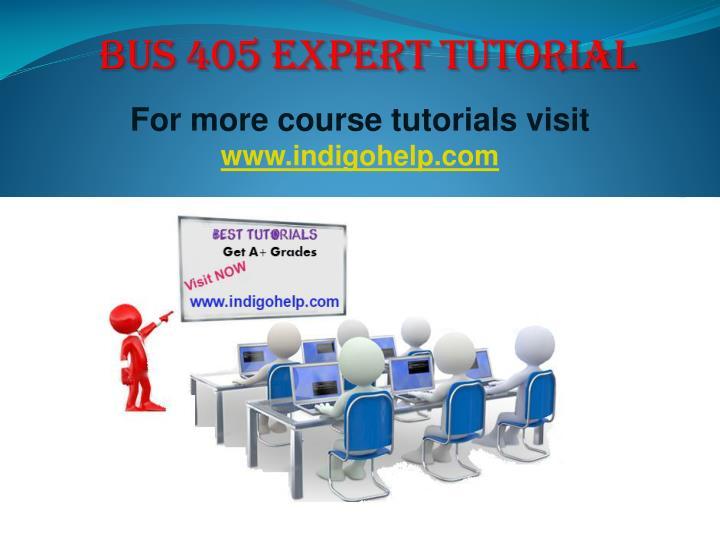 BUS 405 expert tutorial
