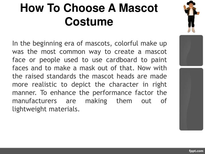 How To Choose A Mascot Costume