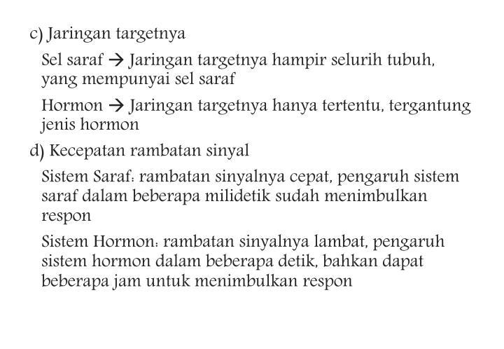 c) Jaringan targetnya