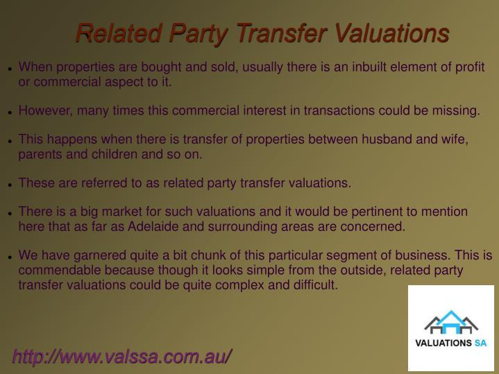 Related Party Transfer Valuations