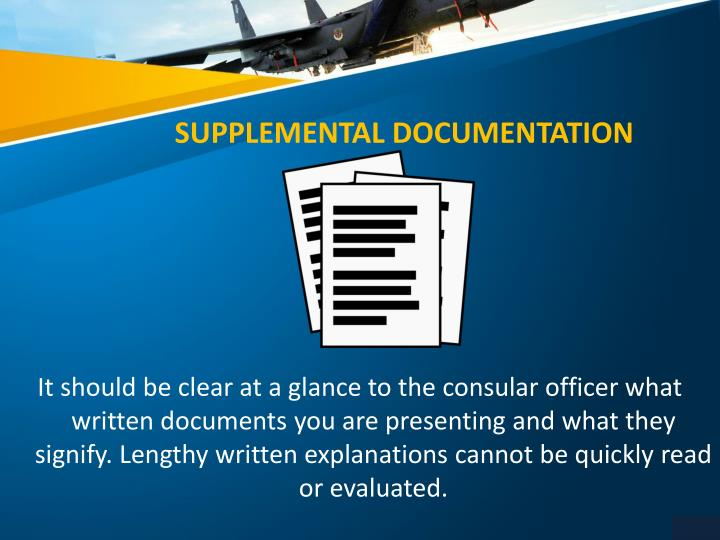 SUPPLEMENTAL DOCUMENTATION