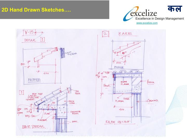 2D Hand Drawn Sketches….