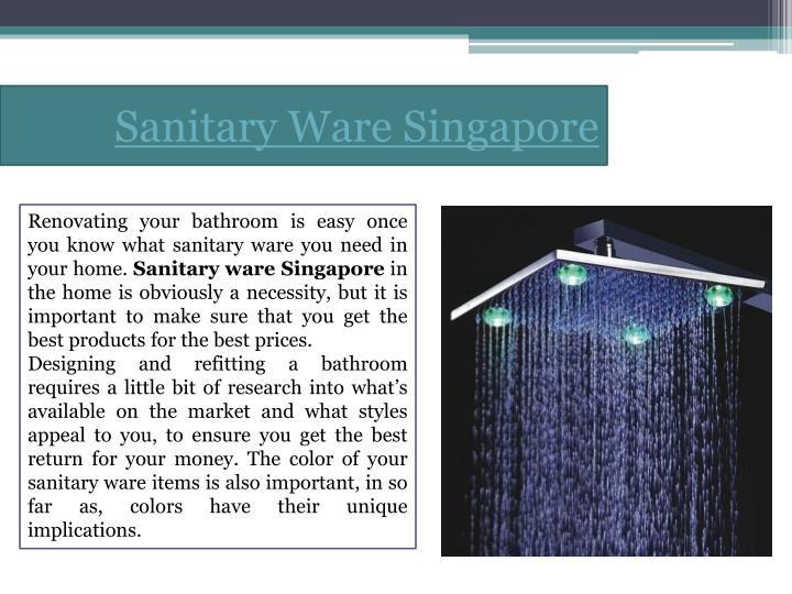 Sanitary Ware Singapore