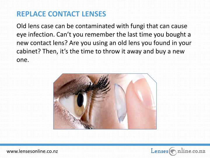 REPLACE CONTACT LENSES