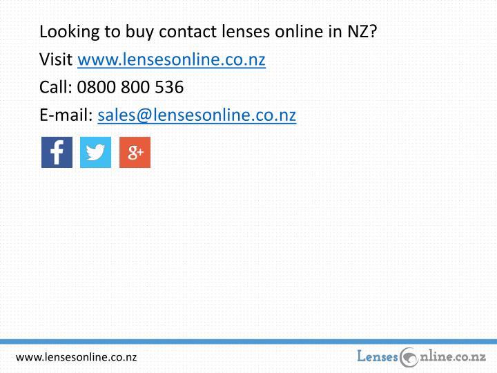 Looking to buy contact lenses online in NZ