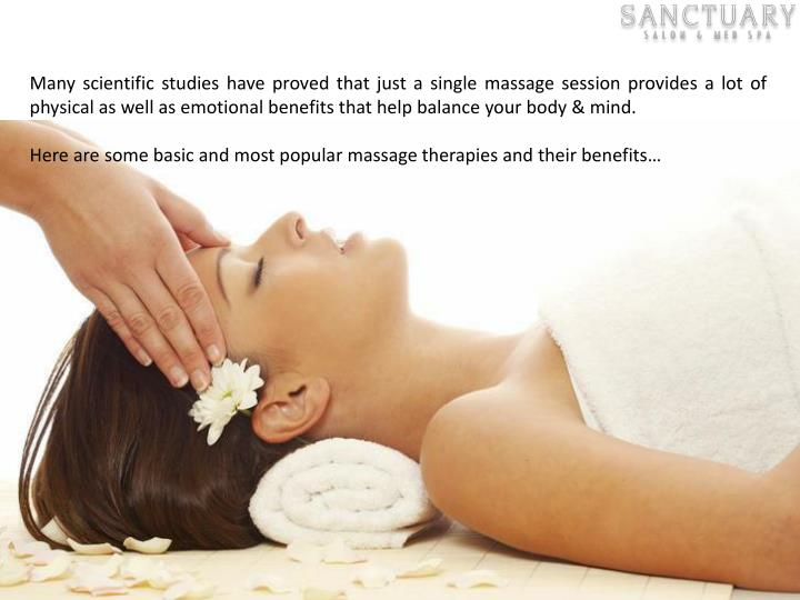 Many scientific studies have proved that just a single massage session provides a lot of physical as...