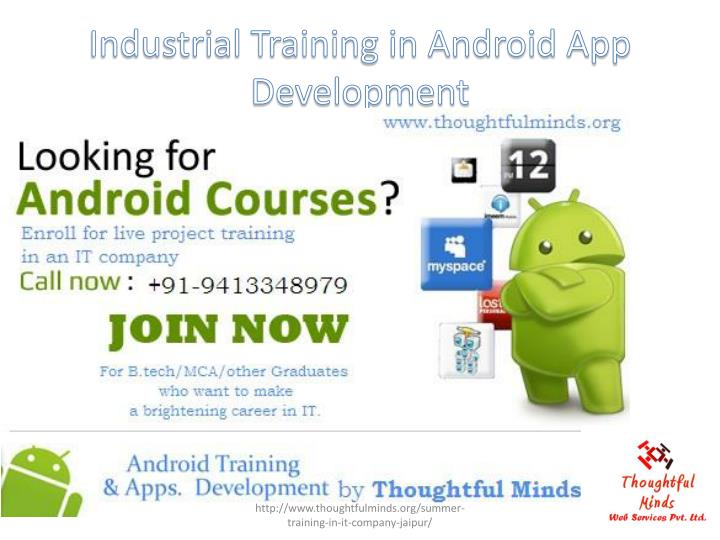 Industrial training in android app development