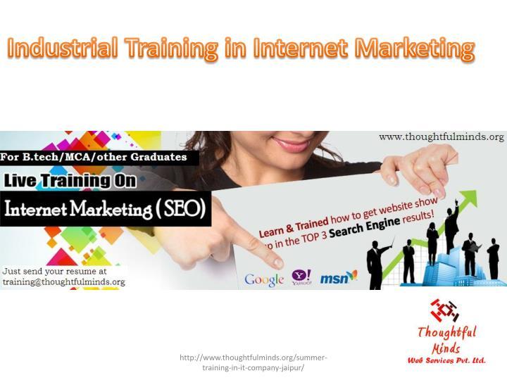 Industrial Training in Internet Marketing