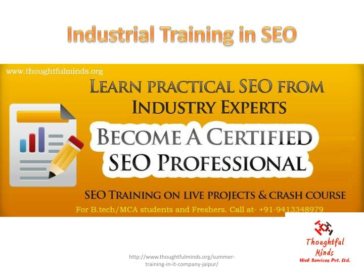 Industrial Training in SEO