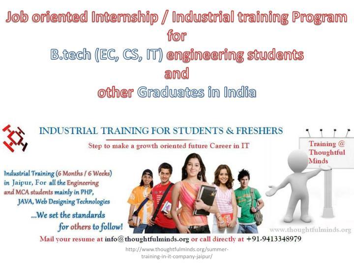 Job oriented Internship / Industrial training Program