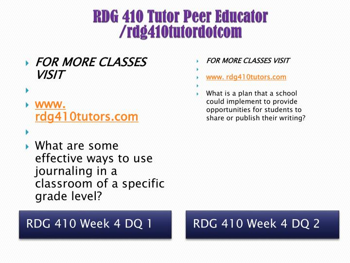 RDG 410 Tutor Peer Educator /rdg410tutordotcom