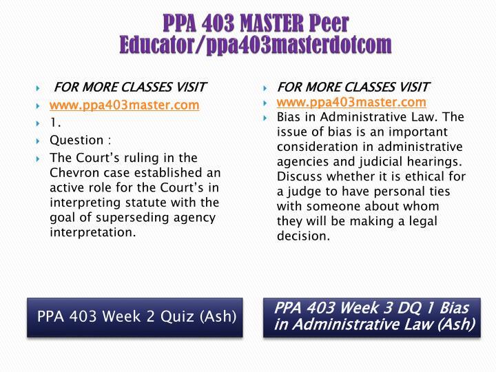 PPA 403 MASTER Peer Educator/ppa403masterdotcom