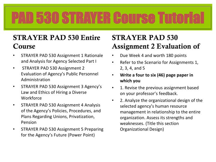 STRAYER PAD 530 Entire Course