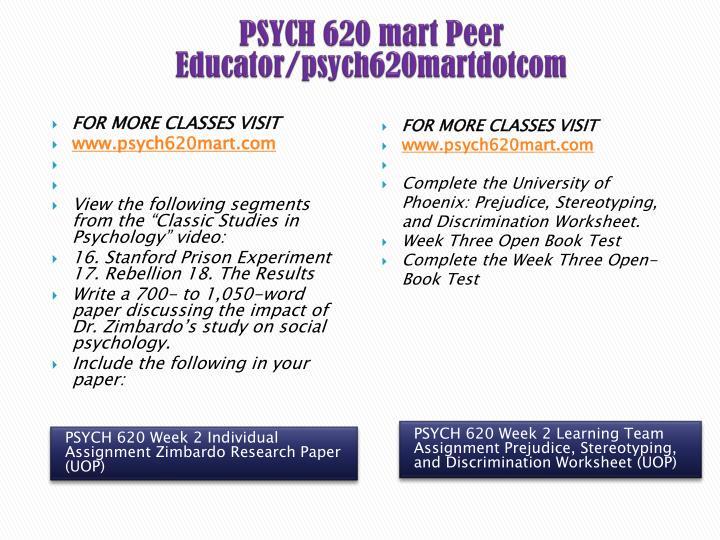 PSYCH 620 mart Peer Educator/psych620martdotcom