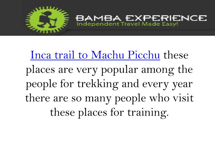 Inca trail to