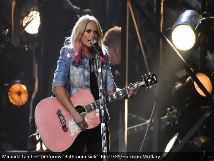 "Miranda Lambert performs ""Bathroom Sink"". REUTERS/Harrison McClary"