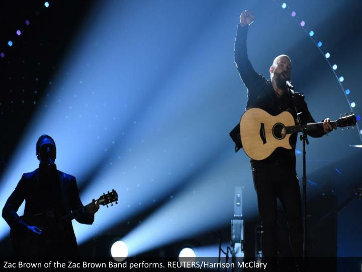 Zac Brown of the Zac Brown Band performs. REUTERS/Harrison McClary
