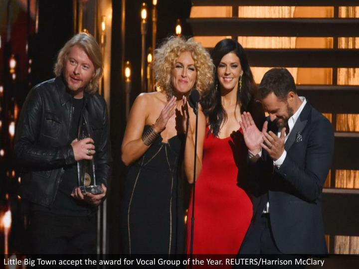 Little Big Town accept the award for Vocal Group of the Year. REUTERS/Harrison McClary