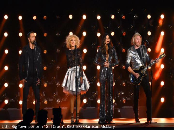"Little Big Town perform ""Girl Crush"". REUTERS/Harrison McClary"