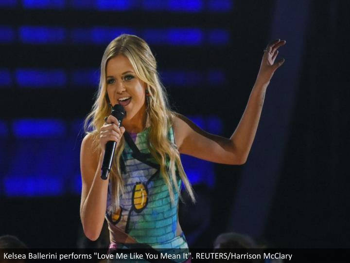 "Kelsea Ballerini performs ""Love Me Like You Mean It"". REUTERS/Harrison McClary"