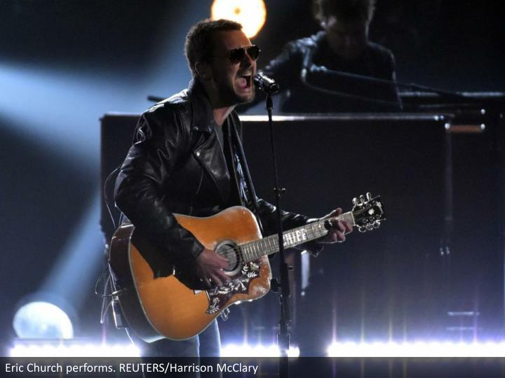Eric Church performs. REUTERS/Harrison McClary