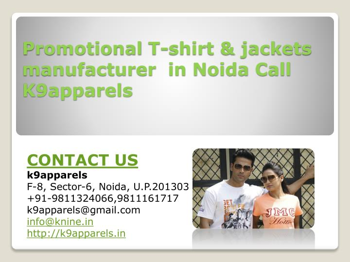 Promotional T-shirt & jackets manufacturer