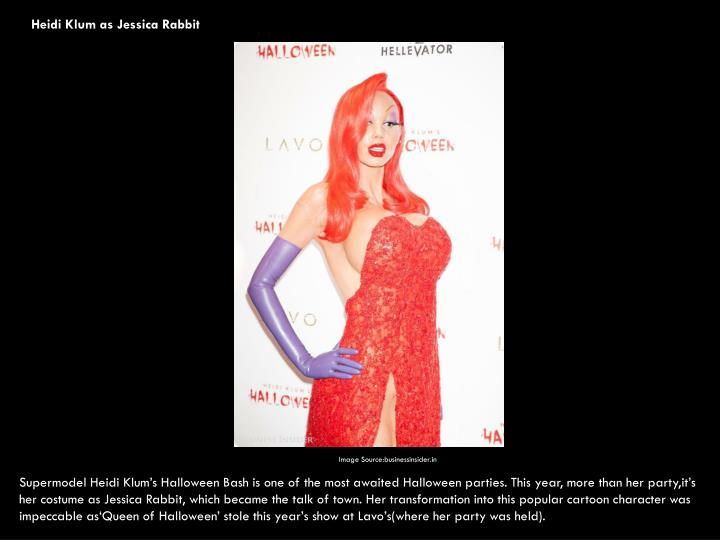 Heidi Klum as Jessica Rabbit
