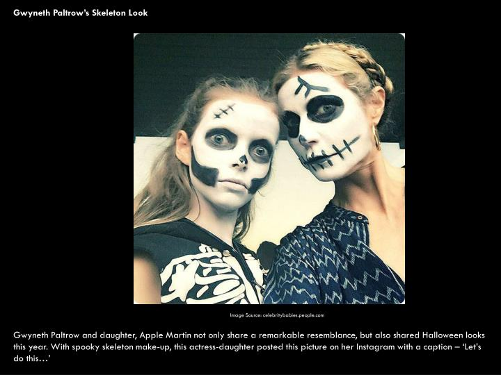 Gwyneth Paltrow's Skeleton Look