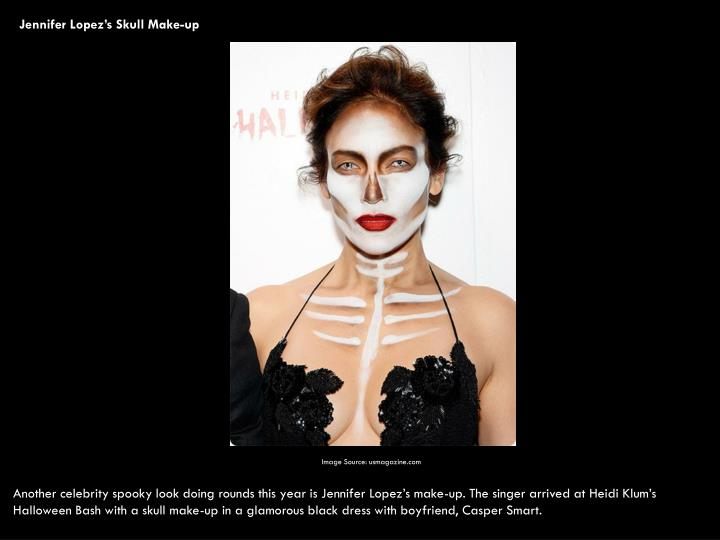 Jennifer Lopez's Skull Make-up