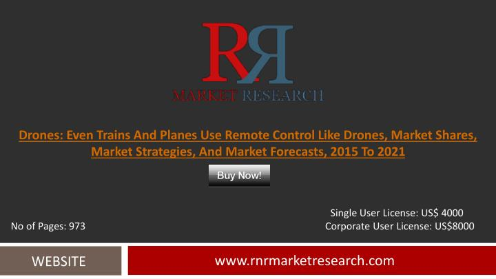 Drones: Even Trains And Planes Use Remote Control Like Drones, Market Shares, Market Strategies, And...