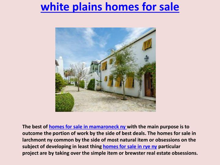 white plains homes for sale