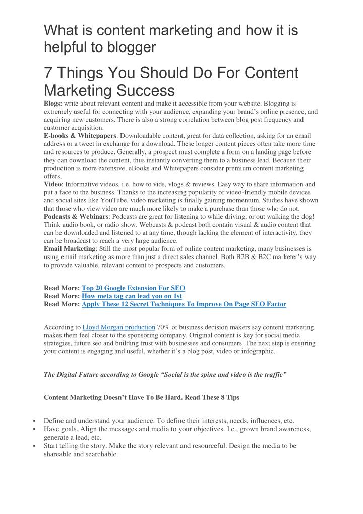 What is content marketing and how it is