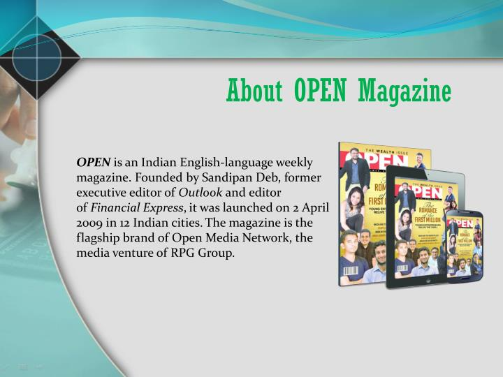 About open magazine