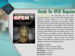 details for open magazine