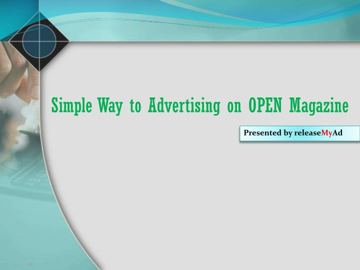Simple way to advertising on open magazine