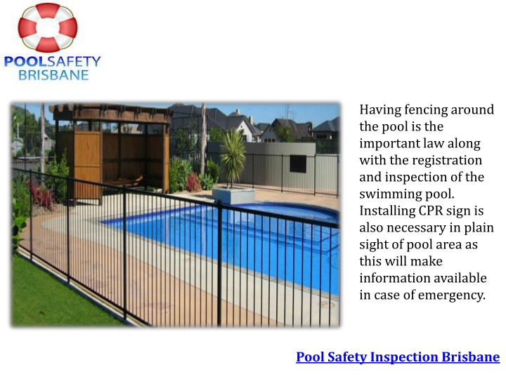 Ppt pool safety inspections are important powerpoint presentation id 7239042 for Residential swimming pool inspection