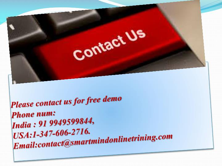 Please contact us for free demo
