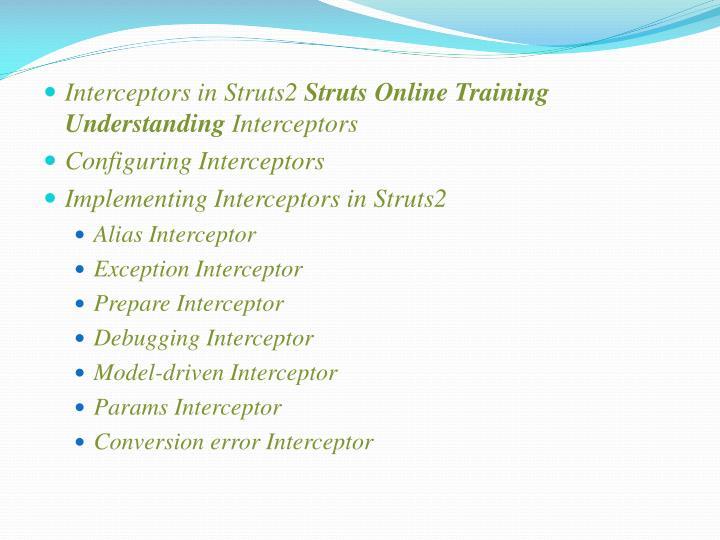 Interceptors in Struts2
