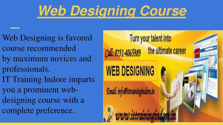 Web Designing Course