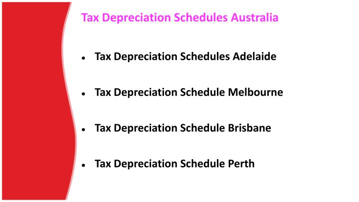 Tax depreciation schedules australia1