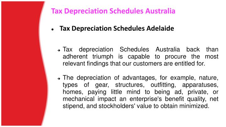 Tax depreciation schedules australia2