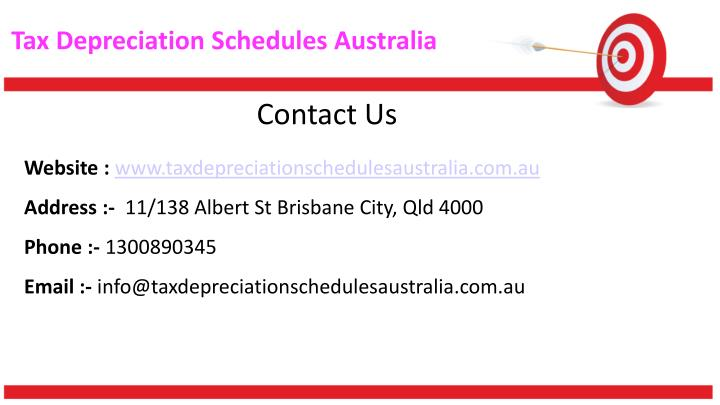 Tax Depreciation Schedules Australia