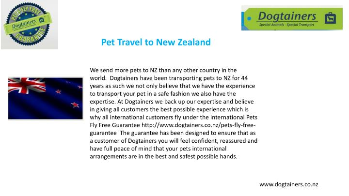 Pet Travel to New Zealand