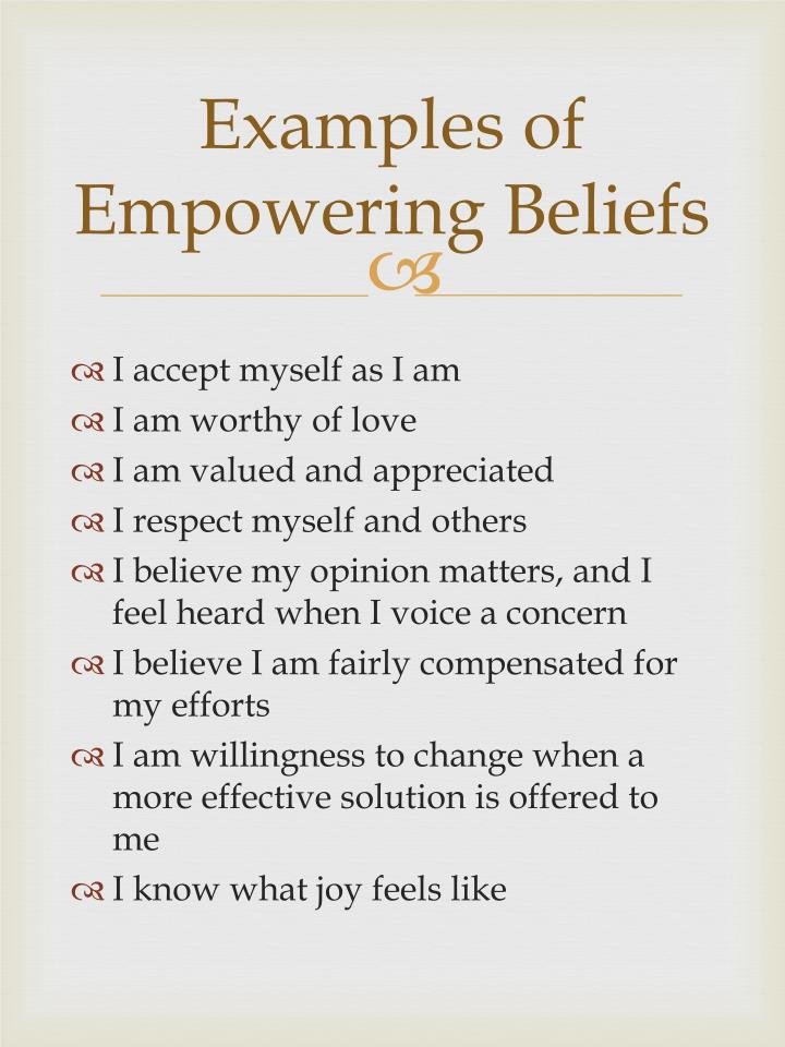 Examples of Empowering