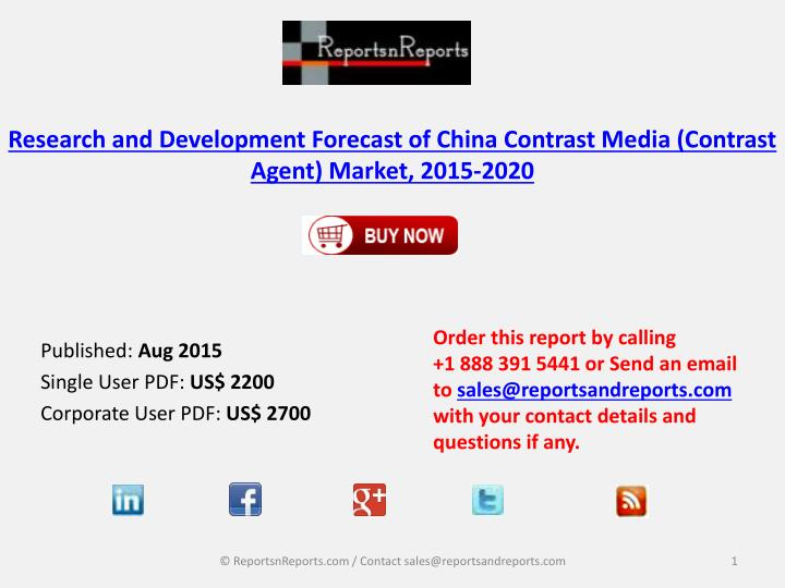Research and development forecast of china contrast media contrast agent market 2015 2020