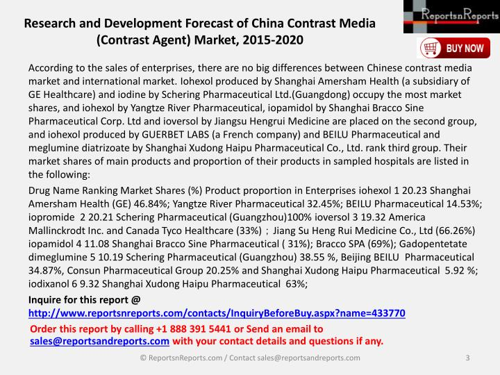 Research and development forecast of china contrast media contrast agent market 2015 20202