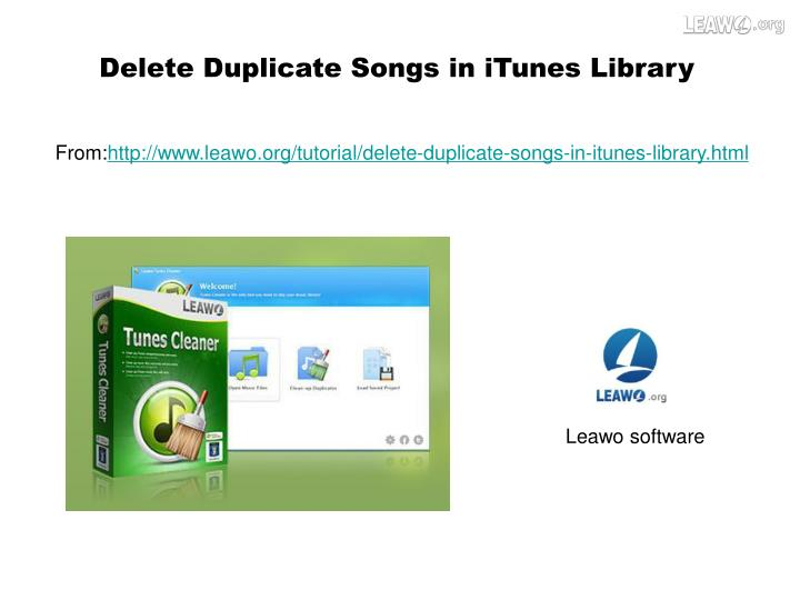 Delete Duplicate Songs in iTunes Library