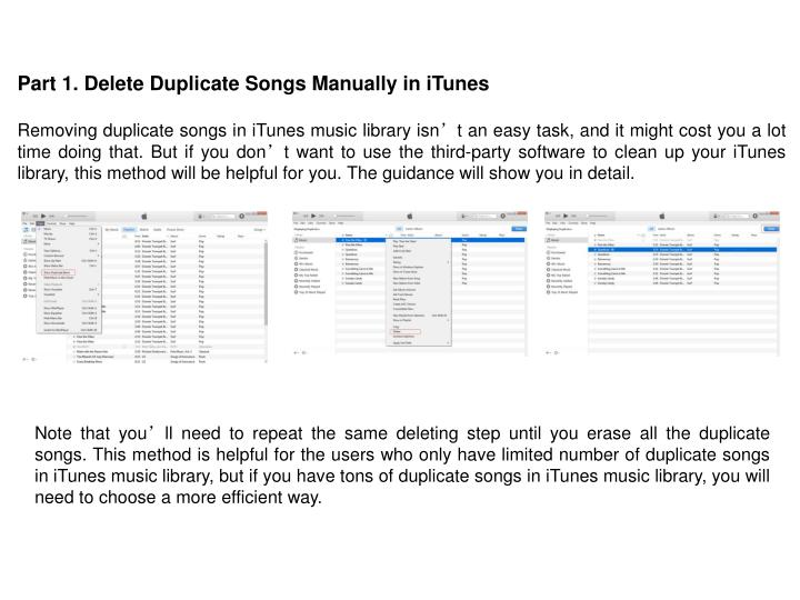 Part 1. Delete Duplicate Songs Manually in iTunes