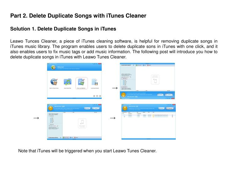 Part 2. Delete Duplicate Songs with iTunes Cleaner